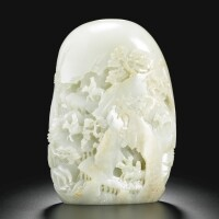27. a finely carvedceladon jade boulder qing dynasty, 18th century