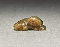 234. a han-style small russet jade 'mythical beast' carvingming dynasty |