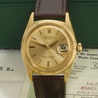 10. rolex | datejust, reference 1601yellow gold wristwatch with datecirca 1962