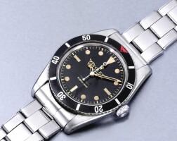 252. 勞力士(rolex) | 6536/1型號「submariner」精鋼自動上鏈鍊帶腕錶,年份約1957。