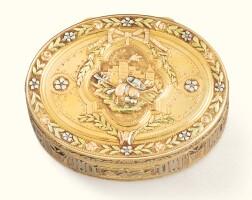 58. a small four-colour gold snuff box, dominique-françois poitreau, paris, 1768 |