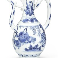 318. a blue and white ewer late ming dynasty