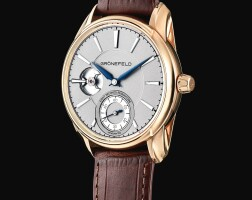 118. grönefeld   1941 remontoire a limited editionpink gold wristwatch with 8 second constant force, circa 2016