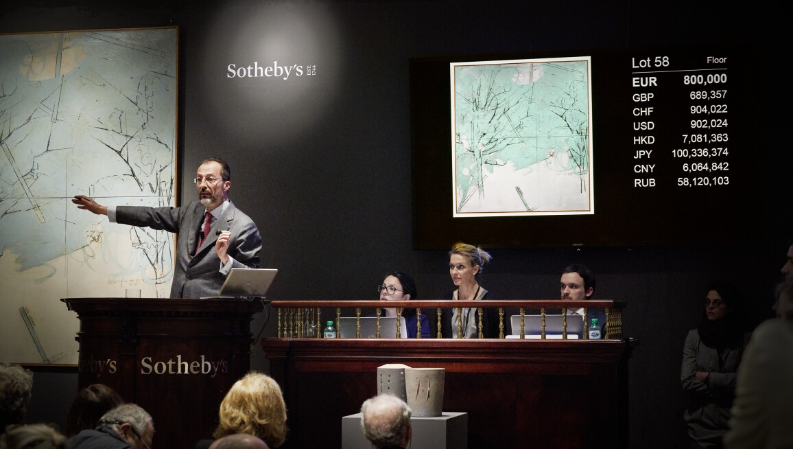 Sothebys Auction Results >> History Making Auction Results In Italy Contemporary Art Sotheby S