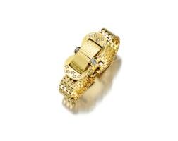 1648. k黃金配鑽石腕錶, 'ludo', 梵克雅寶(van cleef & arpels), 年份約1945