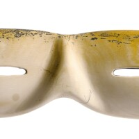 3005. a pair of mammoth tusk chukchi snow goggles northeastern siberia, early 19th century