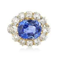 23. sapphire and diamond brooch, early 20th century