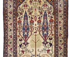 187. a kirman laver prayer rug, south east persia
