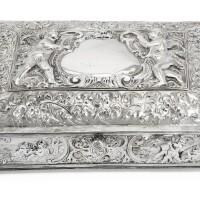 309. a german silver casket, johann peters i, aurich, circa 1700 |