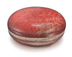 42. 清康熙 豇豆紅釉印泥蓋盒 《大清康熙年製》款 |