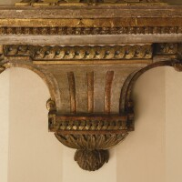 3. a louis xvi faux marble-painted and parcel-gilt wall bracket
