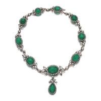 28. 祖母綠配鑽石項鏈