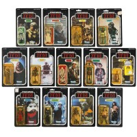 38. thirteen star wars return of the jedi '77a-back' action figures, 1983