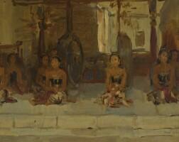 3. isaac israels | seated javanese dancers