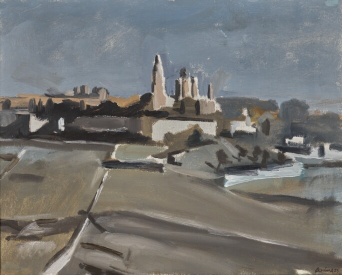 David Bomberg, Mount Zion with the Church of the Dormition: Moonlight, 1923. Estimate £50,000-70,000.
