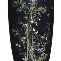 477. a cloisonne vase meiji period, late 19th century with hayashi mark |