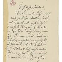 166. brahms, johannes. important autograph letter signed to a friend