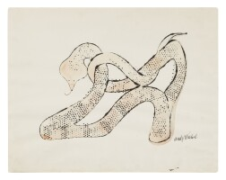 8. andy warhol (1928 - 1987) | untitled (snake shoe), 'circa' 1959