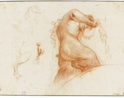 35. bolognese school, early 18th century | study sheet with a satyr