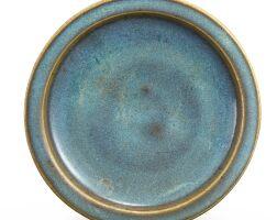 311. a junyao purple-splashed blue-glazed dish song – ming dynasty |