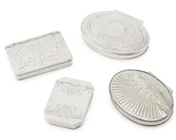 8. three silver snuff boxes, early 18th century