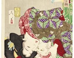33. tsukioka yoshitoshi(1839–1892)the complete set of thirty-two aspects of women (fuzoku sanjuniso) with table of contents meiji period, late 19th century  | thrity-two aspects of women (fuzoku sanjuniso), meiji period, 1888