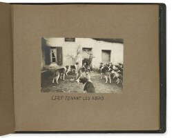 37. [france—travel and sporting photography]— anne de rochechouart de mortemart, duchess ofuzès. 'chasse à courre en france (stag hunting in france). pad'. france: ca. 1902