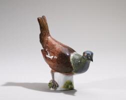 26. a small meissen figure of a cock pheasant circa 1750-60