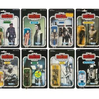 33. eight empire strikes back action figures, 1981