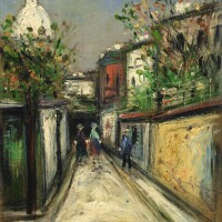 426. maurice utrillo | rue de montmartre