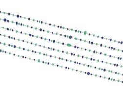 34. sapphire, emerald and diamond longchain