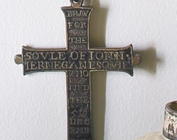 34. charles i silver-gilt and enamel memorial cross, dated 1636