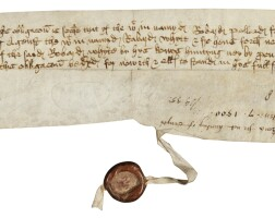 4. a bond concerning the hunting of rabbits, in english and latin; dated 9 october 1499