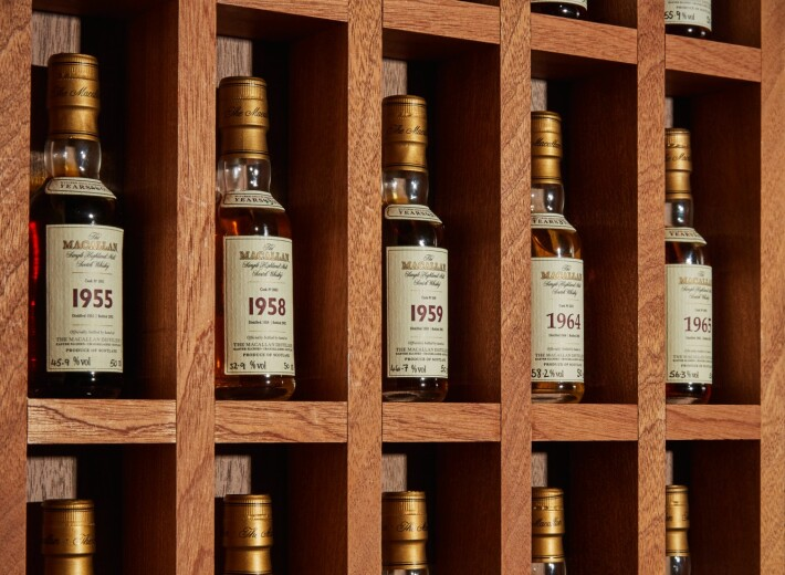 A Macallan Whisky Collection in an auction selling Rare Spirits