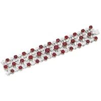 1790. ruby and diamond bracelet