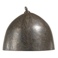 239. an ottoman silver inlaid helmet, turkey, 18th century