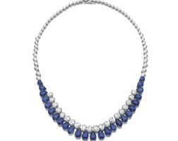 38. sapphire and diamond necklace