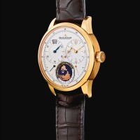 170. jaeger-lecoultre   duometre, reference 600.2.16.s a pink gold dual time zone wristwatch with power reserve indication, circa 2017