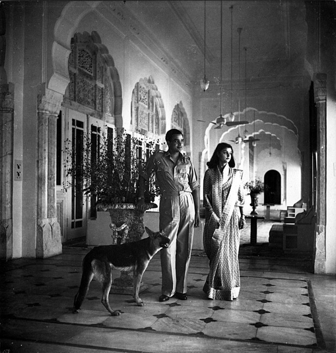 Maharaja and Maharani of Jaipur, India
