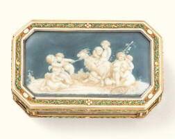 53. a gold, enamel and ivory boîte à miniatures, late 19th century |
