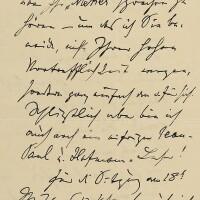"""171. brahms, johannes. fine autograph letter signed (""""j.brahms""""), to the bach scholar philipp spitta"""