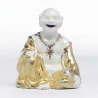 1. an early meissen small pagoda figure the porcelain 1720s, the decoration slightly later