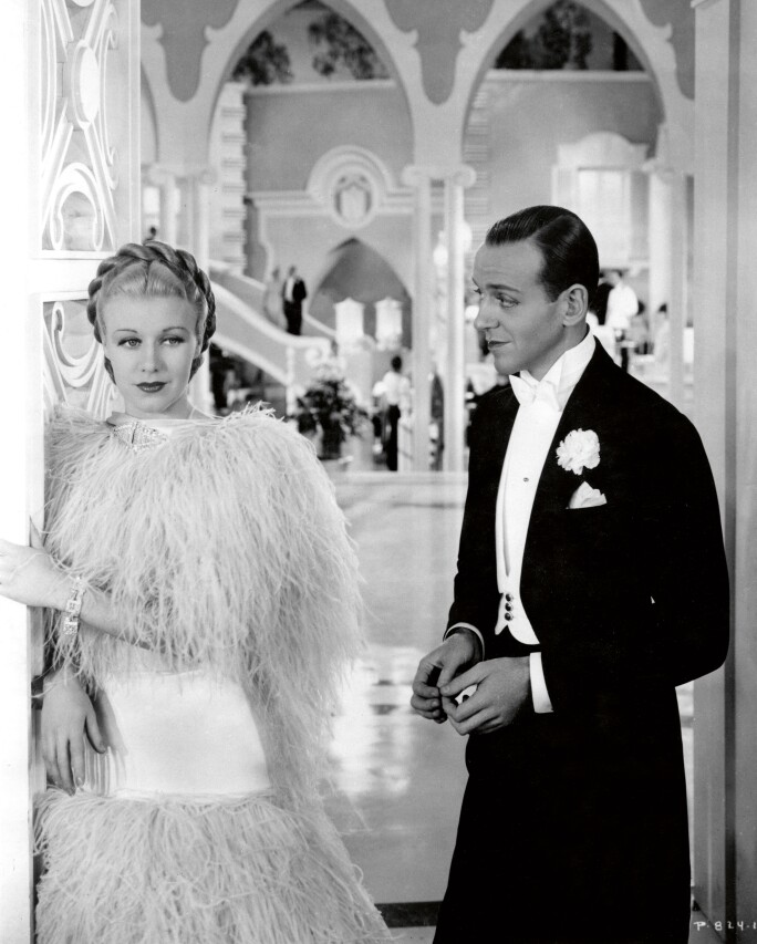 Ginger Rogers & Fred Astaire in Top Hat, 1935. RKO Radio Pictures