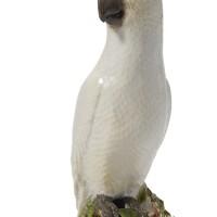 33. a rare ludwigsburg figure of a cockatoo circa 1765