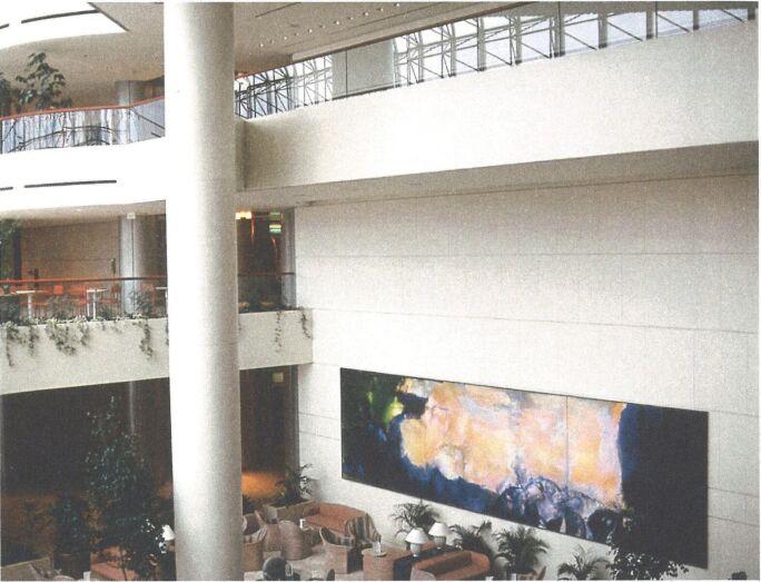 Installation view of Zao Wou-Ki's triptych Juin-Octo… Zao Wou-Ki.jpg