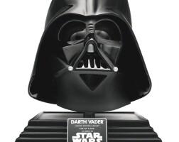 12. signed star wars empire strikes back darth vader helmet, rubies, 2006