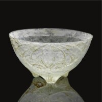 304. a fine and rare cut glass footed bowl, persia, 9th-10th century