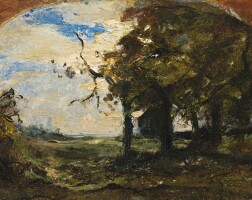 47. antonio fontanesi   study of trees