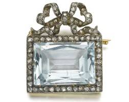 321. a jewelled gold brooch, bolin, st petersburg, 1904-1908