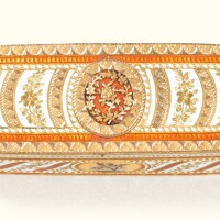 52. a two-colour gold and enamel snuff box, probably german, late 18th century and later |